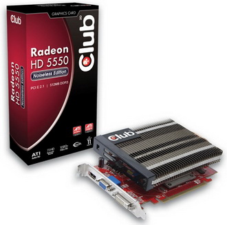 Club 3D Radeon HD 5550 Noiseless Edition